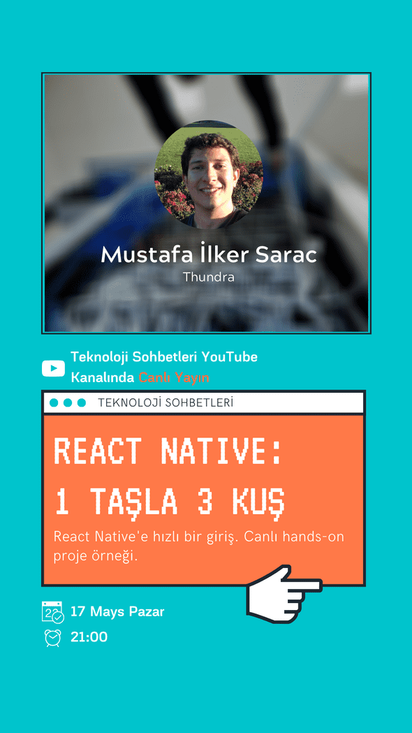 Goes to React Native talk by Mustafa Ilker Sarac